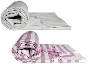 Riyashree Organic Cotton Silky Soft Bhagalpuri Dull chadar Blanket & Duvet & Comforter ( 52*94 in ) combo ( Pack of 2 )