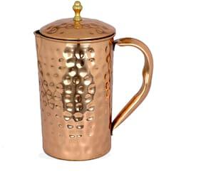 Rk Handicrafts 100% Pure Copper Hammered Jug