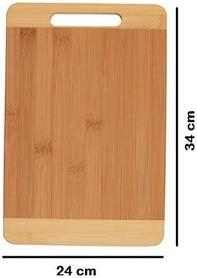 RME Eco-Friendly Premium Natural Bamboo / Wooden Kitchen Chopping Cutting Board With Handle. Slight Colou may varry due to photo lights. 3