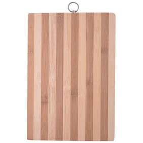 5PLUS Eco-Friendly Premium Natural Bamboo / Wooden Kitchen Chopping Cutting Board With Handle (30cm x 20cm x 1.3cm)