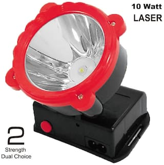 Rock Light Rechargeable Powerfull 10 W Ultra Bright LED Light Head Torch Rechargeable Lamp for Home;Industrial Work