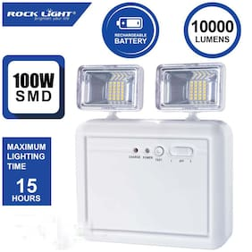 Rock Light Wall Mounted with Portable Emergency Light with Twin Spot Light (Small)