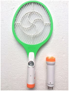 Rocklight 2 In 1 Rechargeable Mosquito Racket Bat With Led Torch (Multi Design And Color)