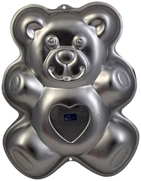 Rolex Aluminium Cake Mould Pans  Teddy bear large Big 1.5 - 2 Kg. Cake