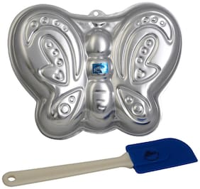 Rolex Aluminium Cake Mould Pans  Butterfly + Spatulla Small 1 Kg. Cake