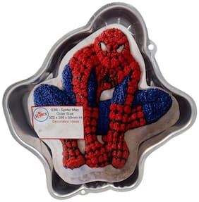 Rolex Aluminium Cake Mould Pans  SpiderMan Big 1.5 - 2 Kg. Cake