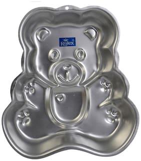 Rolex Aluminium Cake Mould Pans Teddy bear medium 1/2 kg. Cake