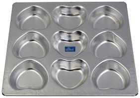 Rolex Aluminium Muffin Bakeware Tray  Little Heart 9 Cavity