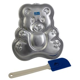 Rolex Aluminium Cake Mould Pans  Teddy bear + Spatulla Small  1 Kg. Cake
