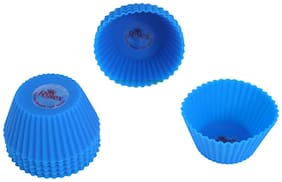 Rolex Silicon Mould Muffin Cup Cake Set of 10 Big