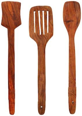 Roli Moli Wooden Cooking Spoons Kitchen Tool Set (Set Of 3)