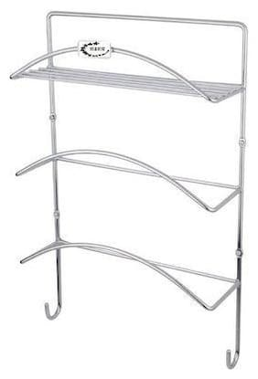 Rollyware Premium Wall Mounted Home Decor Key Chain Steel Holder Rack with Letter Organizer