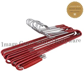 ROLLYWARE Plastic & Steel Maroon & Olive Hangers ( Set of 10 )