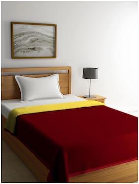 Romee 100% Cotton Single Bed Dohar;60X90 Maroon