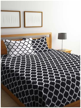 Romee 180 TC Polycotton Bedsheet with 2 Pillow Covers