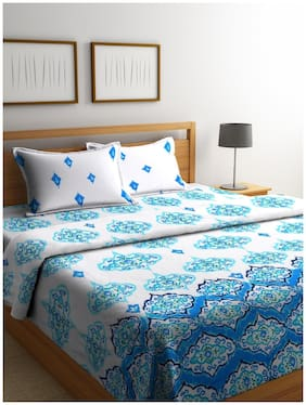ROMEE Cotton Printed King Size Bedding Set