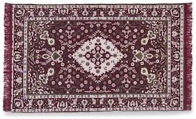 ROMEE Chenille Carpet for Living Room - Maroon