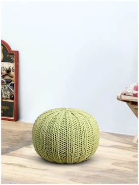 Romee Hand Knitted Round Pouffe/Ottoman For Living Room