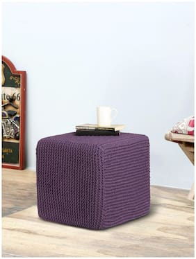 Romee Hand Knitted Square Sitting Ottoman/Pouffe For Living Room