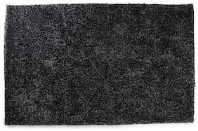ROMEE Polyester Carpet for Living Room - Black