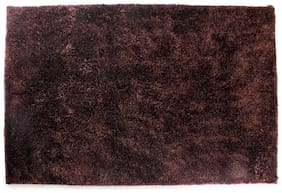 ROMEE Polyester Carpet for Living Room - Brown