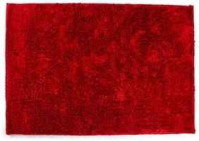 ROMEE Polyester Carpet for Living Room - Red