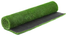 Ronakcreation Soft Natural Artificial Grass Mat;Floor Mat Natural Green - Carpet (3.3 ft X 13 ft)-25mm Mat Thickness