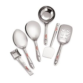 Roops Mini Stainless Steel Serving Spoon  Set Of 6 Pcs