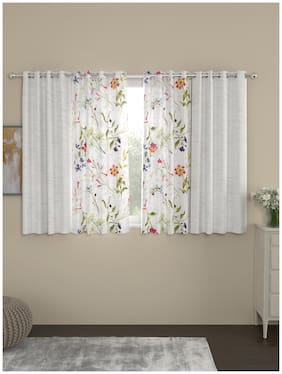 ROSARA HOME Mateo Voile Pack of 4 Window Curtains