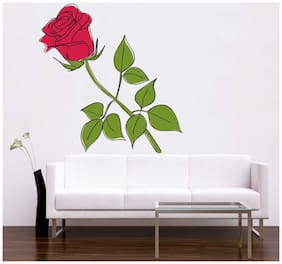 Rawpockets Wall Stickers  ' Rose Flower '