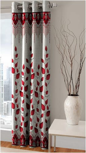 ROSEATE 100 % High Quality Polyester Curtain - Set of 1