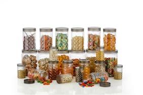 Roseleaf 150;350;650;1200 ml Transparent  Plastic Container Set - Set of 24