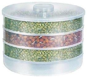 Roseleaf 1000 ml White Plastic Container Set - Set of 1