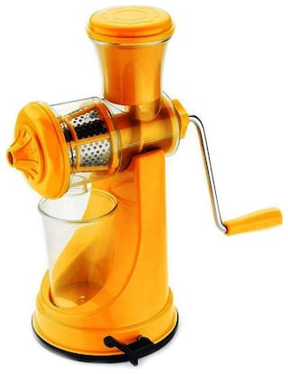 Roseleaf Fruit and Vegetable Juicer, Manual Juicer, Hand Juicer, Non Electric Juicer with Steel Handle and Waste Collector (Multi color)