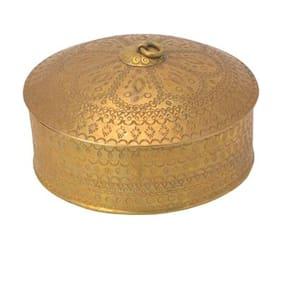round design mukhawas box handicrafts product by Bharat Haat BH05890