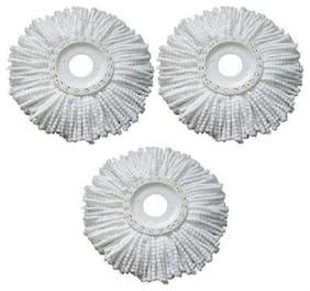 Round Shape Fiber Mop Head Refill Set of 3 Pcs