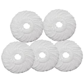 Round Shape Fiber Mop Head Refill Set of 5 Pcs