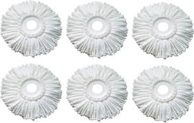Round Shape Fiber Mop Head Refill Set of 6 Pcs