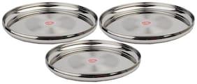 ROYAL 30cm Dinner Plate Designer Silver-Set of 3
