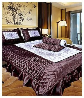 ROYAL HANDICRAFT 104 Solid Flat Double Bedsheet ( Grey , Pack of 3 )