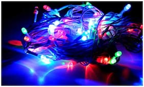 ROYALDEAL 100% NEW BEST DESIGN 14 ft Diwali Decorative LED String Light Low Price Festival Decoration Serial Bulbs Changing Pattern (Multi Color, Set of 4)