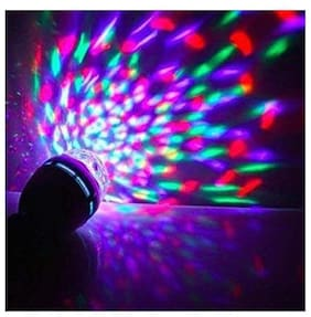 ROYALDEAL 100% NEW DECORATIVE ECO-FRIENDLY AUTOMATICALLY Rotating, B22 Connector, Multicolor Led Disco Bulb,Decorative Bulb,Party Light with Multicolor stage lighting Effect Light
