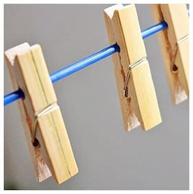 ROYALDEAL BY 100% BEST QUALITY Wooden Clips Bamboo Cloth Clips Pegs Set of 20 Clips