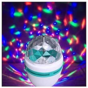 ROYALDEAL BY LATEST MODERN LED DIWALI DECORATIVE COLORFUL MAGIC DJ LASER DISCO LAMP Lighting Party RGB Bulb,Wedding Decoration, automatically 360 Rotate,LED Stage Light 85-260V (3W), B22 Connector