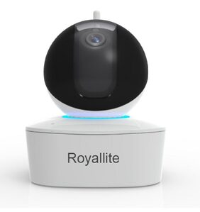 Royallite 2MP Plug N Play Wireless CCTV Camera with Pan-Tilt;Built-in Speaker & Mic with SD Card Connectivity Upto 128GB