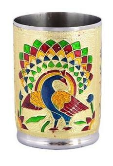 Royals pride Meenakari Serving Glass home de cor gift (1 pc)