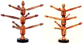 Royals pride wooden bangle stand;bangle organizer with 6 +9 rod;bangle holder - GIFT ITEMS SET