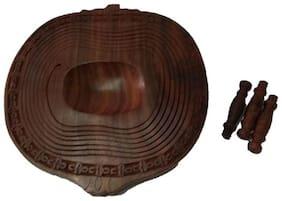 Royals Wooden Pomegranate shape fruit basket folding spring type dining table tableware gift fruit tray