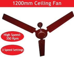 RPM Ultra 1200 MM 3 Blades Ceiling Fan (Brown) Pack of 1