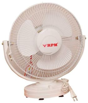 RPM AP 300 MM 3 Blades Table Fan (White) Pack of 1